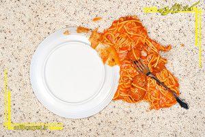چگونه لکه ی سس غذا را پاک کنیم؟