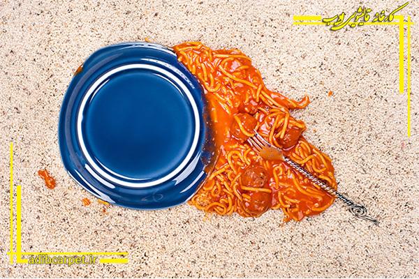 حذف سس گرم از روی فرش