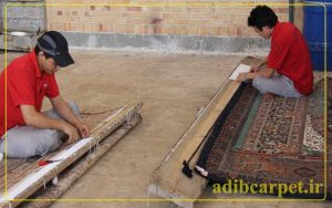 ریشه-بافی-کارخانه-قالیشویی-ادیب